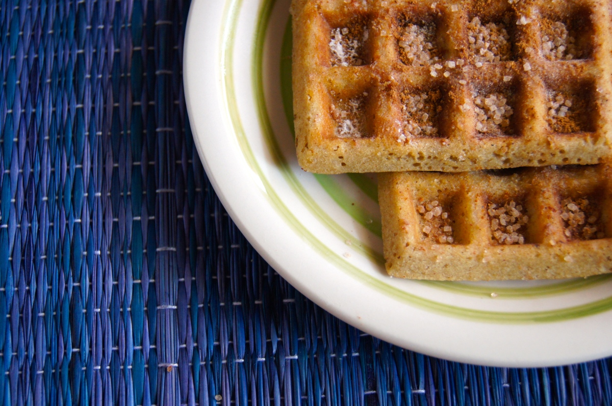 Sunday Cinnamon Waffles!