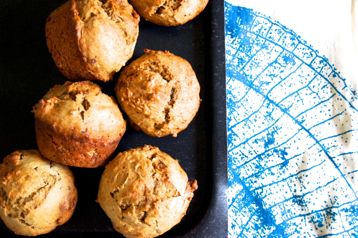 Whole Wheat Nutty Banana Muffins (nobutter)