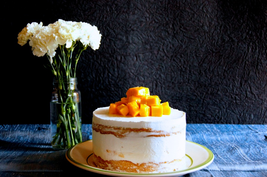 Simple Mango Cake with Hidden mango chunks