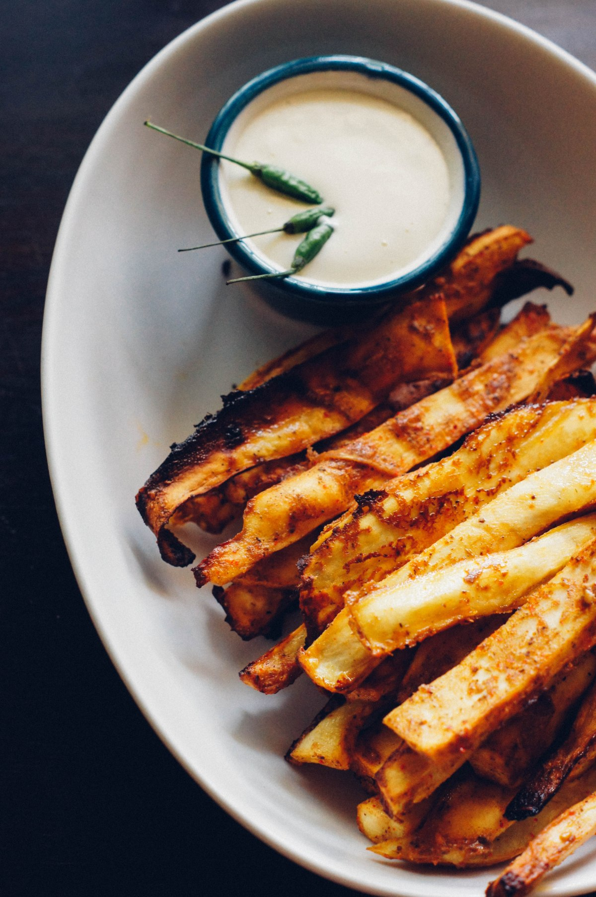 Za'atar Spiced Sweet Potato Fries (Baked)