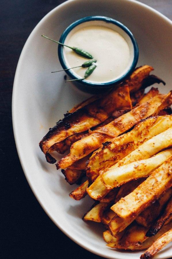 Za'atar Spiced Sweet Potato Fries(Baked)