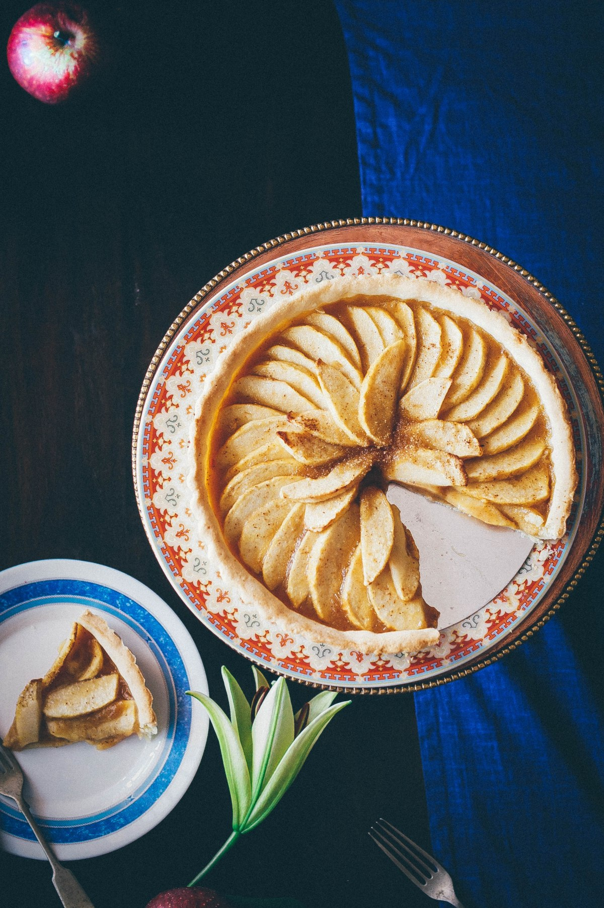 Open faced Apple Tart