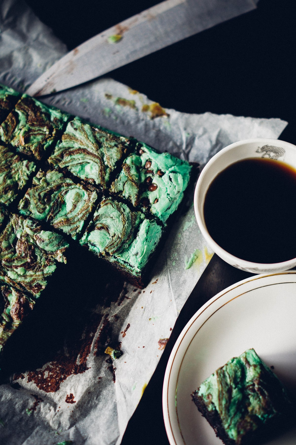 Mint Chocolate ChipBrownies