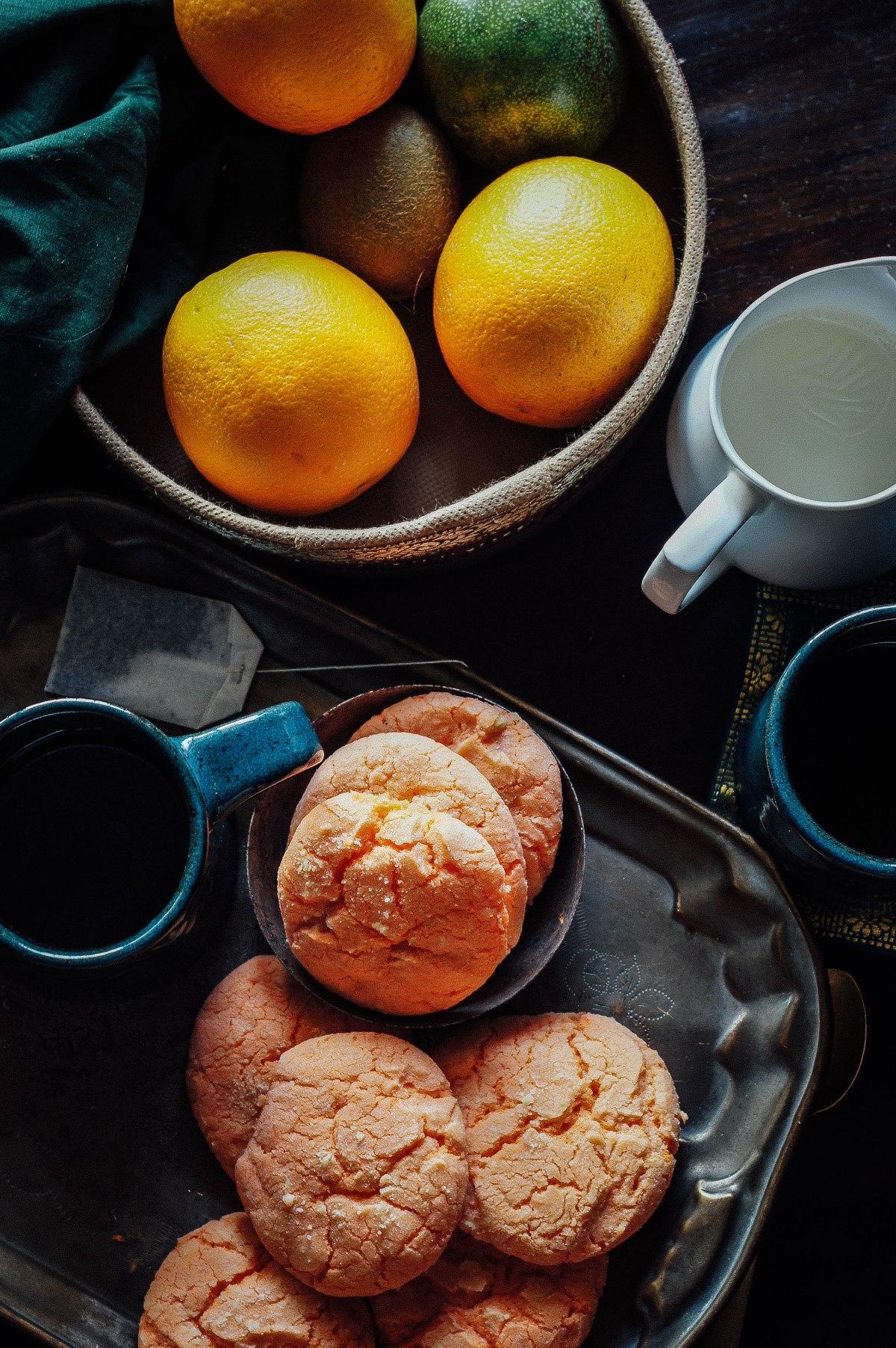 Orange Crinkle Cookies / The week thatwas
