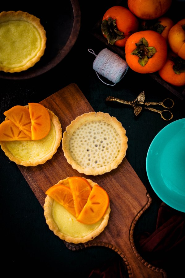 White Chocolate Persimmon Tartlets