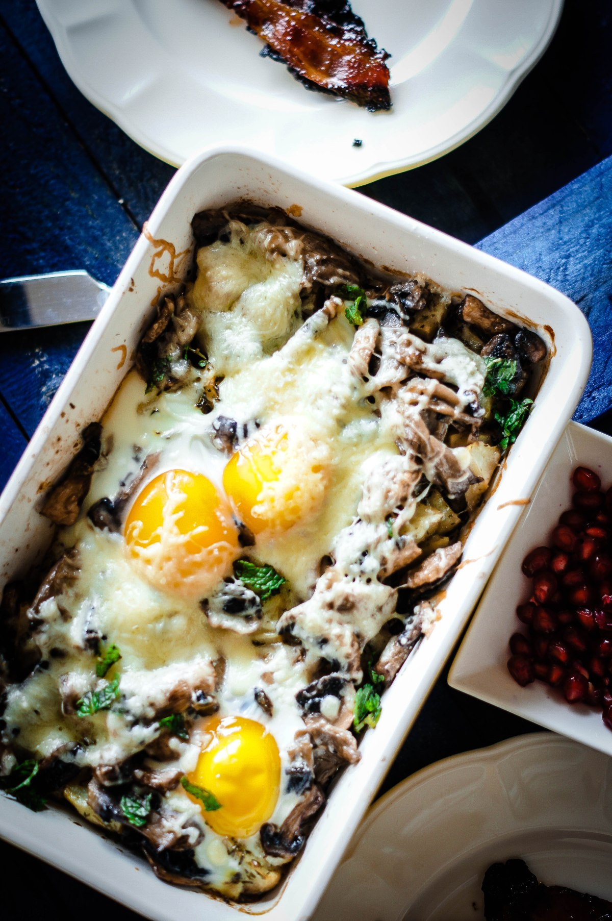 Mushroom and Egg Bake – Breakfast Bake