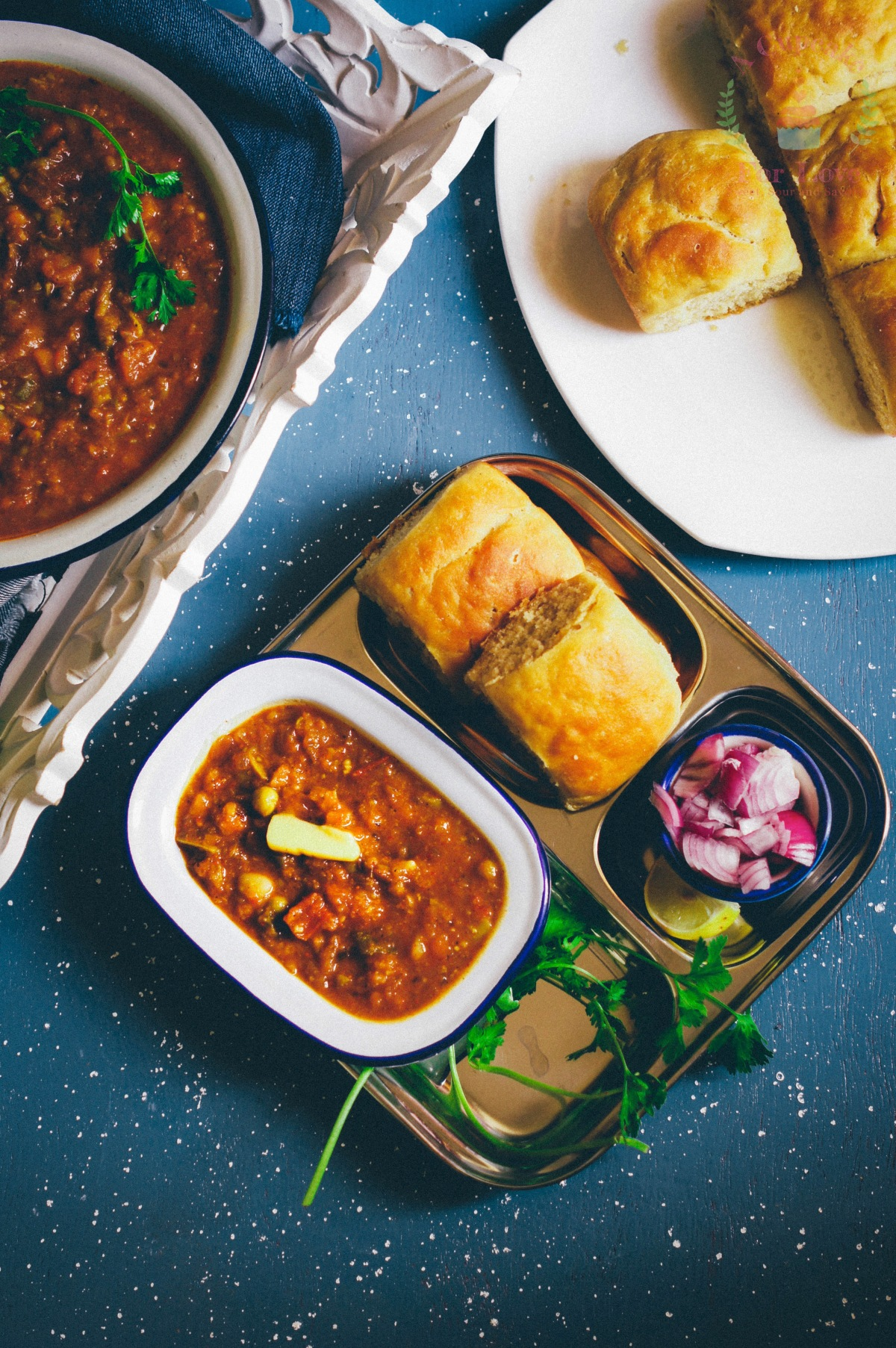 Whole wheat Pav and Bhaji – Indian Street food