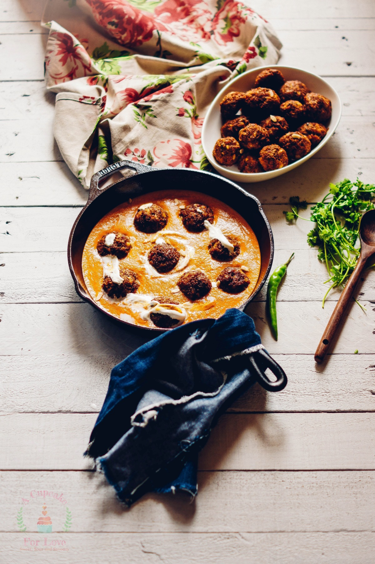 Keema Kofta – Mutton Meat Balls curried in a spicy tomato gravy