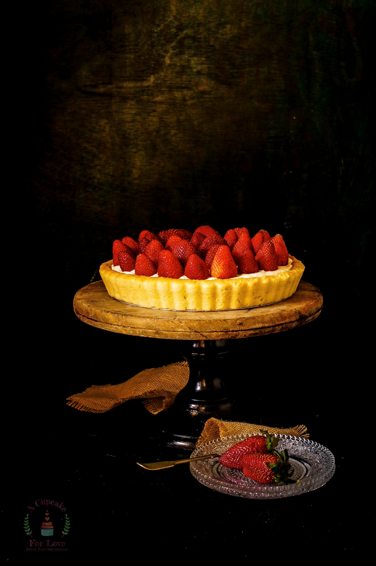 Strawberry and Cream Cheese Tart