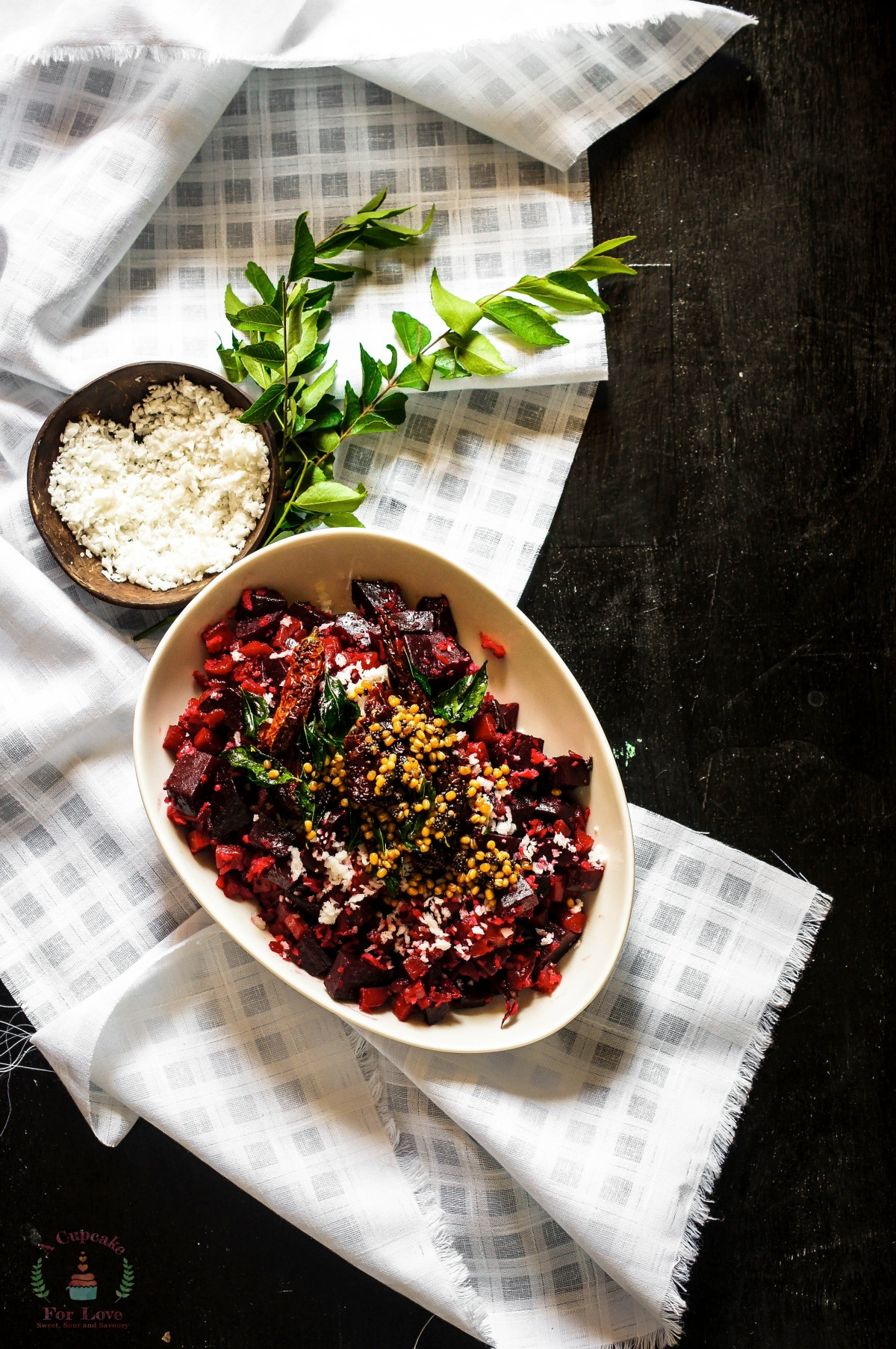Beetroot and Carrot Thoran – Stir Fry with Coconut and Curry leaves