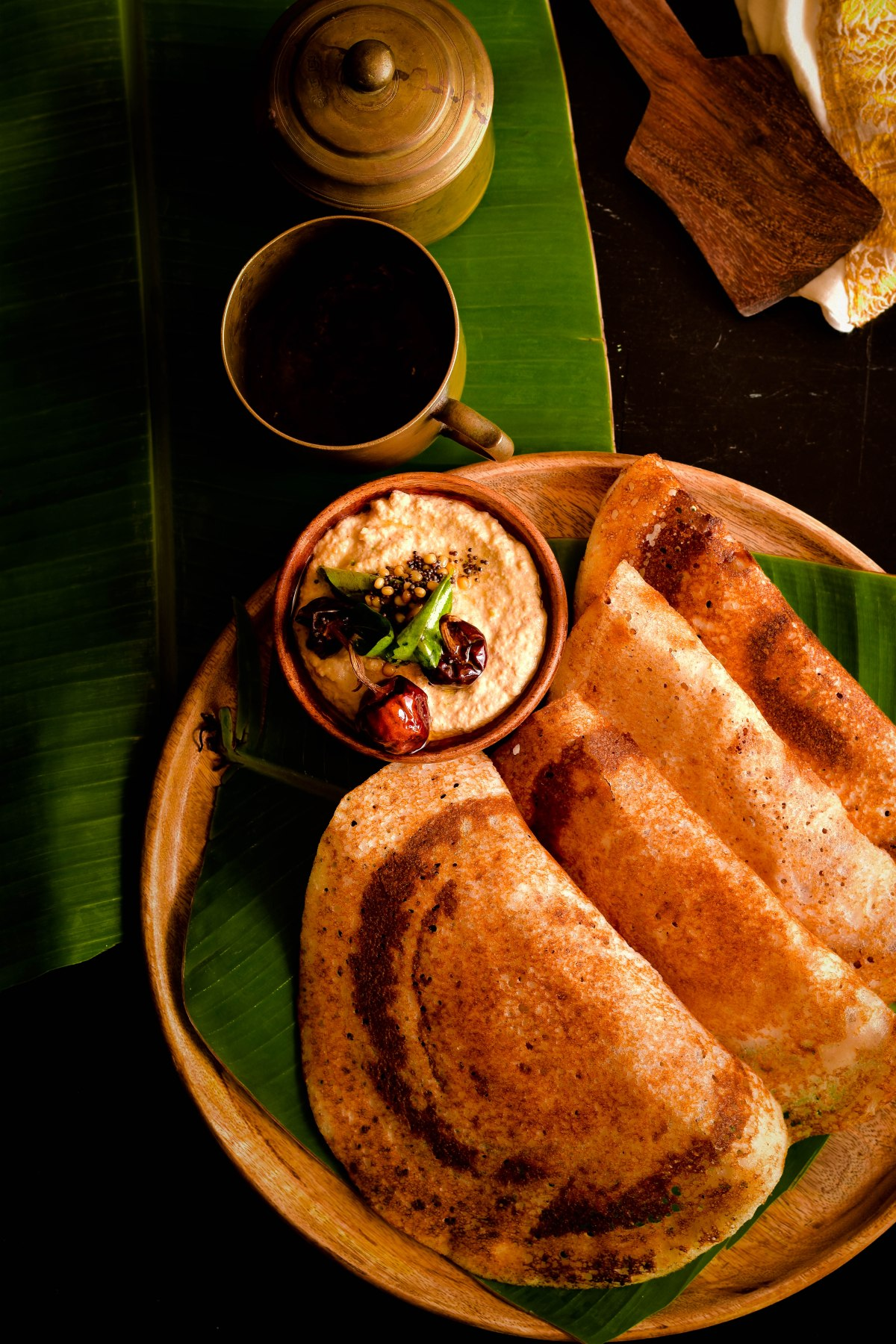 Dosa – Crisp rice batter crepes