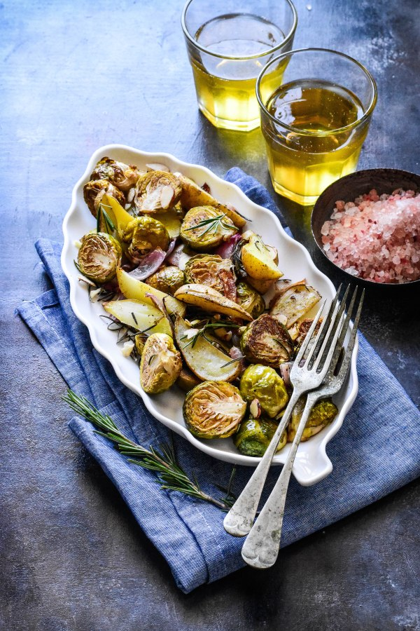 Rosemary and Garlic Roasted Brusstels Sprouts