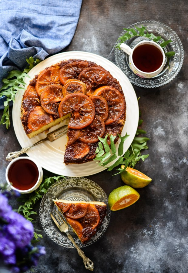 Caramel and Orange Upside Down Cake
